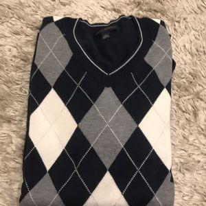 Banana republic blue gray argyle sweater sz large